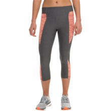 RBX Blocked Capris (For Women) in Papaya/Platinum Grey - Closeouts