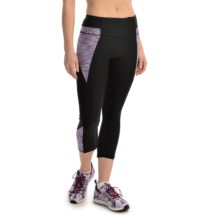 RBX Blocked Capris (For Women) in Ultra Marine/Hibiscu - Closeouts