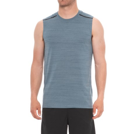 RBX Bonded Shoulder Taping Tank Top (For Men) in Slate