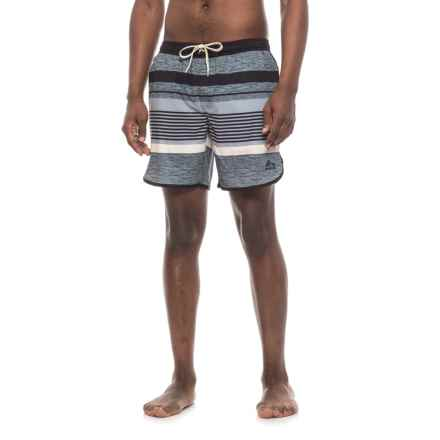 RBX Bookpage Striped Boardshorts (For Men) in Black - Closeouts