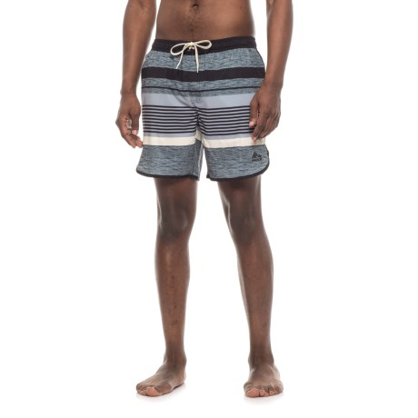 RBX Bookpage Striped Boardshorts (For Men) in Black