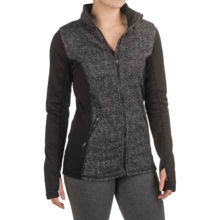 RBX Brushed Fleece Jacket - Zip Front (For Women) in Black/White - Closeouts