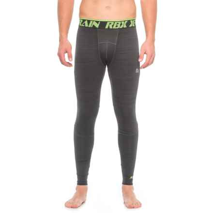 RBX Brushed Printed Compression Base Layer Pants (For Men) in Black - Closeouts