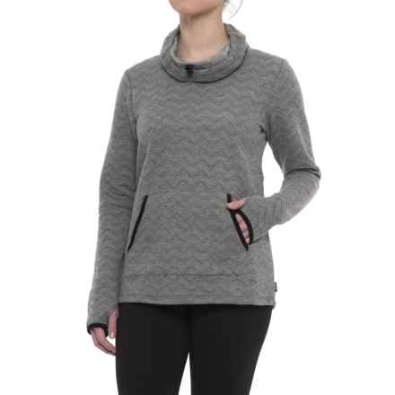 RBX Chevron Quilted Cowl Neck Sweatshirt (For Women) in Charcoal Heather - Closeouts