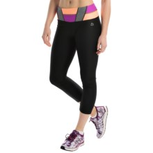 RBX Color-Block Capris (For Women) in Black/Frosted Magent - Closeouts