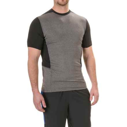 RBX Color-Block Compression T-Shirt - Short Sleeve (For Men) in Charcoal/Black - Closeouts