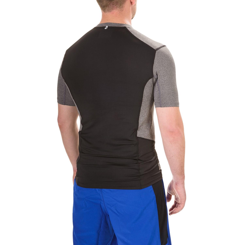 Rbx color block compression t shirt for men save 65 for Compression tee shirts for men