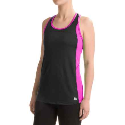 RBX Color-Block Racerback Tank Top - Mesh Straps (For Women) in Black - Closeouts