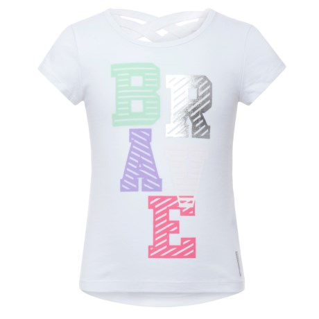 RBX Crisscross Graphic T-Shirt - Short Sleeve (For Little Girls) in White