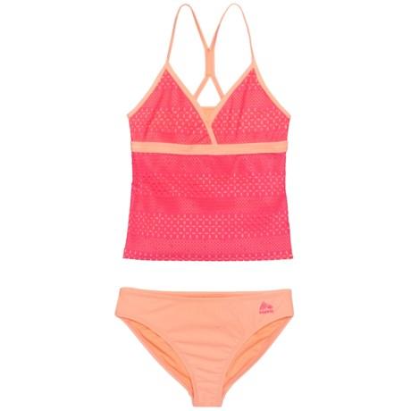 RBX Crochet Tankini Set - UPF 50 (For Big Girls) in Pink