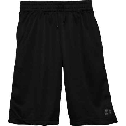 RBX Cut and Sew Close Dhold Mesh Shorts (For Big Boys) in Black - Closeouts