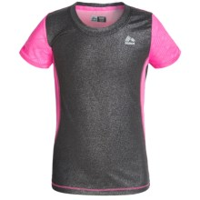 RBX Cut-and-Sew High-Performance Shirt - Short Sleeve (For Little and Big Girls) in Black/Sugar Plum - Closeouts
