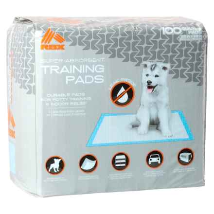 RBX Dog Training Pads - 100-Pack in White - Closeouts