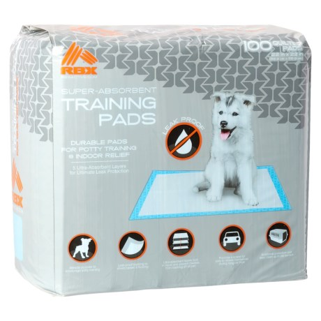 RBX Dog Training Pads - 100-Pack in White