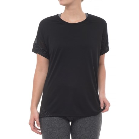 RBX Dolman Sleeve T-Shirt - Short Sleeve (For Women) in Black