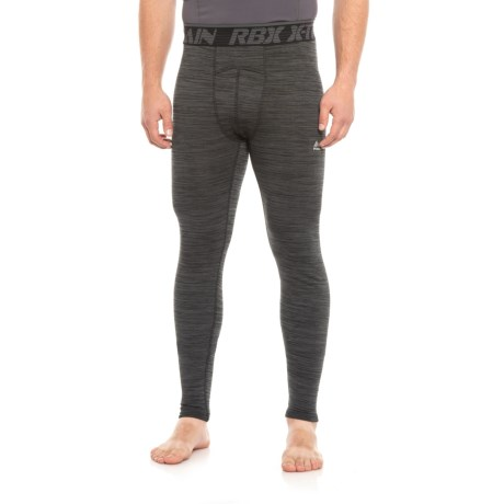 RBX Double-Knit Quilted Compression Base Layer Pants (For Men) in Black