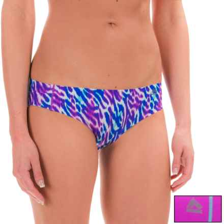 RBX Edge No-Show Hipster Panties - 2-Pack (For Women) in Blue Zebra/Hot Orchid - Closeouts