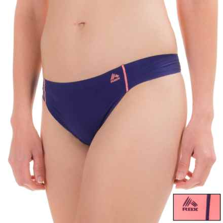 RBX Edge No-Show Thong Panties - 2-Pack (For Women) in Navy Coral - Closeouts