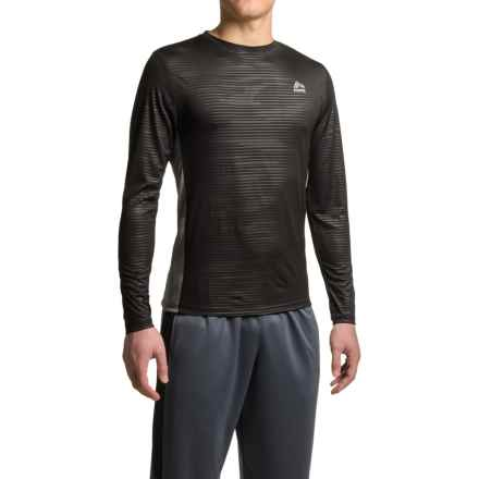 RBX Embossed Mesh Shirt - Long Sleeve (For Men) in Black/Grey - Closeouts