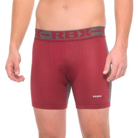 "RBX Fashion Color-Block Boxer Briefs - 6"" (For Men) in Burgundy"