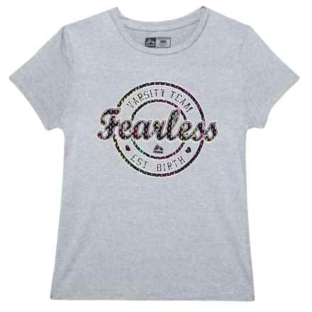 RBX Fearless T-Shirt - Short Sleeve (For Big Girls) in Heather Grey - Closeouts