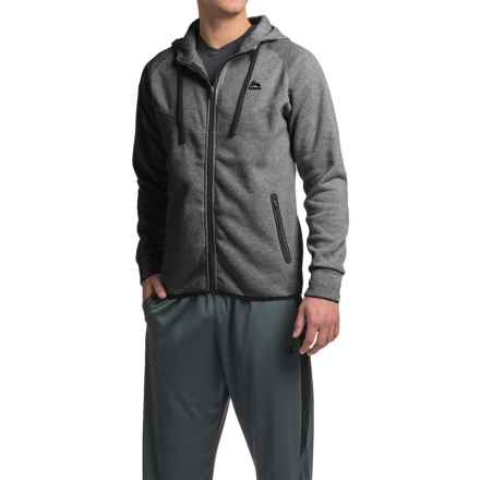 RBX Fleece Hooded Jacket - Full Zip (For Men) in Heather Charcoal - Closeouts