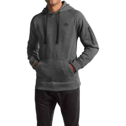 RBX Fleece Hoodie - Cotton Blend (For Men) in Heather Charcoal - Closeouts