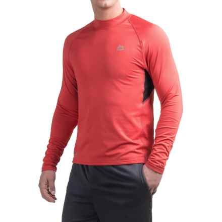 RBX Fleece-Lined Compression Shirt - Mock Neck, Long Sleeve (For Men) in Gym Red/Black - Closeouts