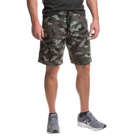 RBX Fleece Shorts - Cotton Blend (For Men) in Black Camo - Closeouts