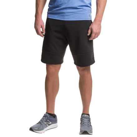 RBX Fleece Shorts - Cotton Blend (For Men) in Black - Closeouts