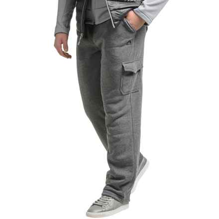 RBX Fleece Straight-Leg Cargo Joggers (For Men) in Heather Charcoal - Closeouts