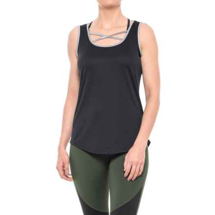 RBX Foil Print Jersey Tank Top (For Women) in Black/Grey - Closeouts