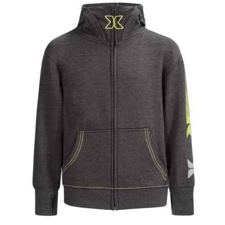 RBX French Terry Zip-Up Hoodie (For Big Boys) in Charcoal Heather - Closeouts