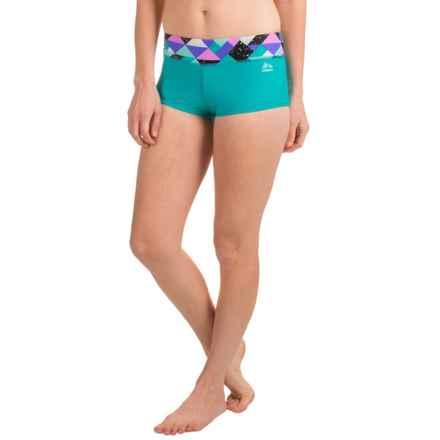 RBX Geo-Print Bikini Bottoms (For Women) in Multi/Jade - Closeouts