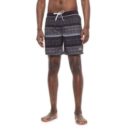 RBX Gradation Stripe Boardshorts (For Men) in Black - Closeouts
