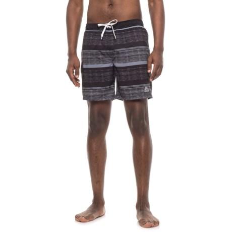 RBX Gradation Stripe Boardshorts (For Men) in Black