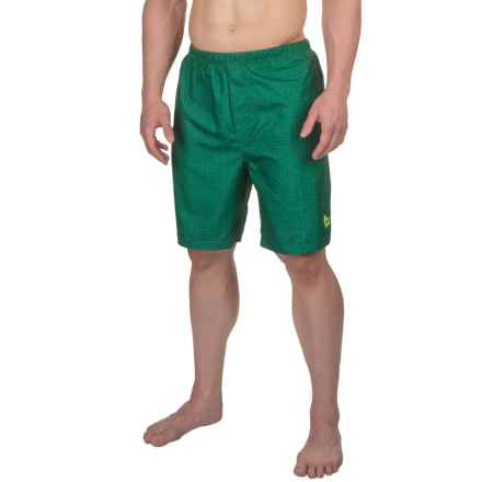 RBX Gym N' Swim Compression-Lined Trunks (For Men) in Green - Closeouts
