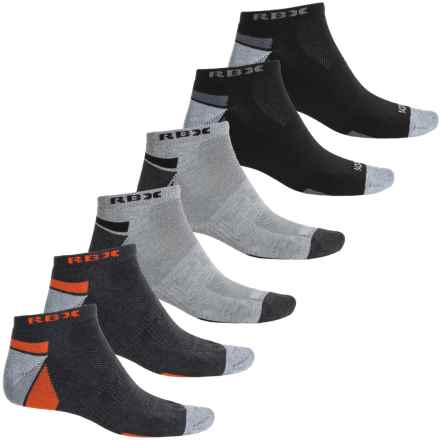 RBX Half-Terry Low-Cut Socks - 6-Pack, Below the Ankle (For Men) in Grey/Grey - Closeouts