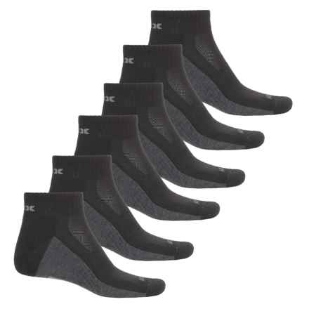 RBX Half-Terry Socks - 6-Pack, Quarter Crew (For Men) in Black - Closeouts