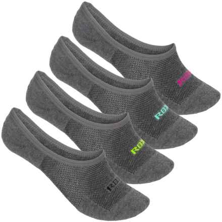 RBX Half-Terry Sports Liner Socks - 4-Pack, Below the Ankle (For Women) in Medium Grey - Closeouts