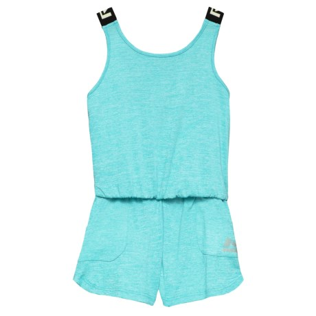 RBX Heather Romper - Sleeveless (For Big Girls) in Bluefish Heather