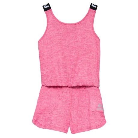 RBX Heather Romper - Sleeveless (For Little Girls) in Pretty Hibiscus Heather
