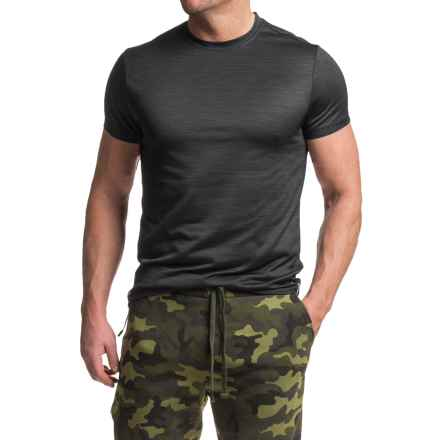 RBX Heathered Jersey T-Shirt - Crew Neck, Short Sleeve (For Men) in Black - Closeouts