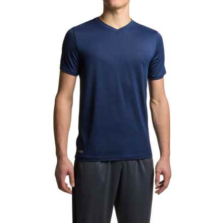 RBX Heathered Jersey T-Shirt - V-Neck, Short Sleeve (For Men) in New Navy - Closeouts