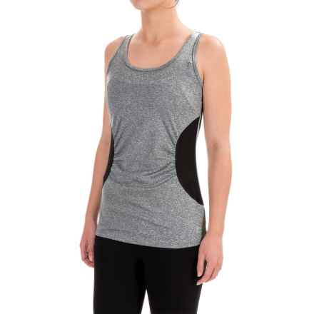 RBX Heathered Jersey Tank Top (For Women) in Grey/Black - Closeouts