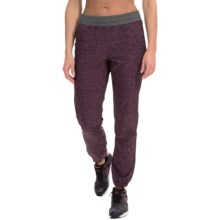 RBX Heathered Stretch-Woven Joggers (For Women) in Marsala - Closeouts