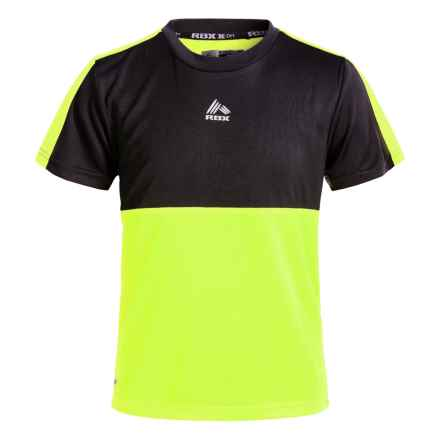 RBX High-Performance Active T-Shirt - Crew Neck, Short Sleeve (For Big Boys) in Neon Yellow - Closeouts