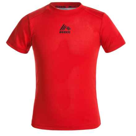 RBX High-Performance Active T-Shirt - Short Sleeve (For Big Boys) in Collegiate Red - Closeouts
