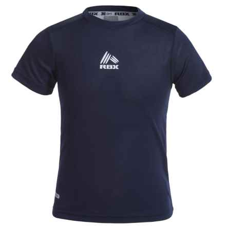RBX High-Performance Active T-Shirt - Short Sleeve (For Big Boys) in Navy - Closeouts