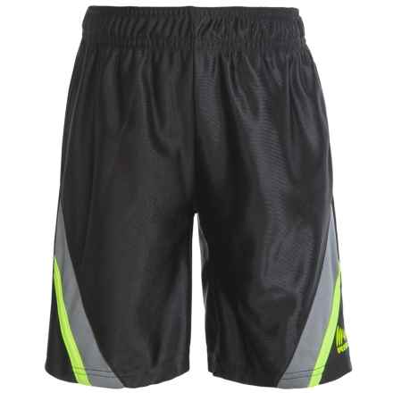 RBX High-Performance Diagonal Stripe Shorts (For Little Boys) in Midnight - Closeouts